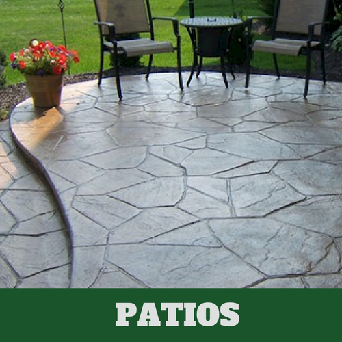 Stamped Patio Located In East Lansing.