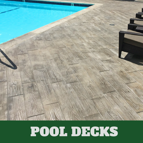 Picture of a concrete pool deck.